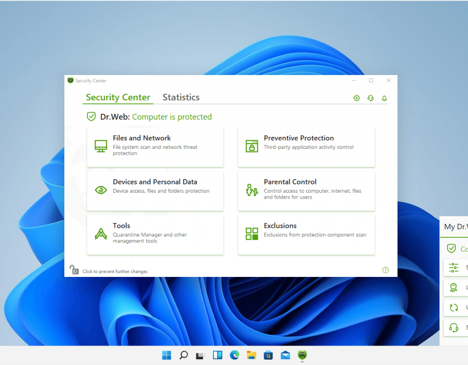 پشتیبانی از ویندوز 11 توسط محصولات دکتر وب